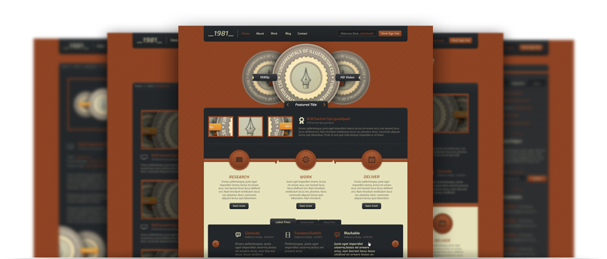Digital Rust Website Template PSD